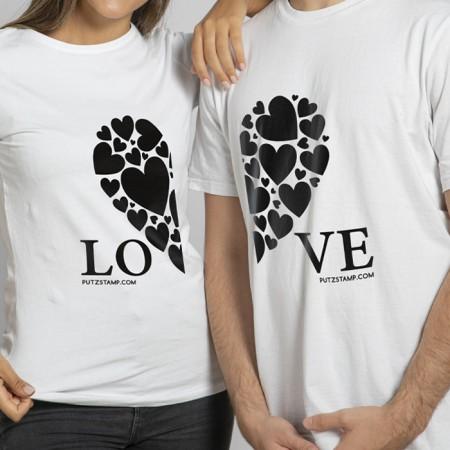 T-SHIRT LOVE (para ela e para ele)