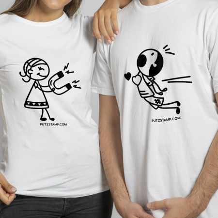 T-SHIRT Magnetic Love (para ela e para ele)