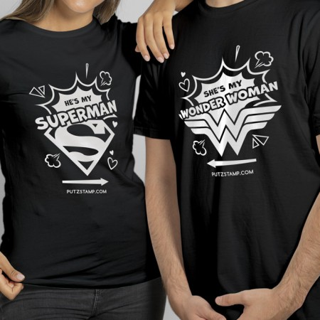 T-SHIRT Super Heroes (para ela e para ele)