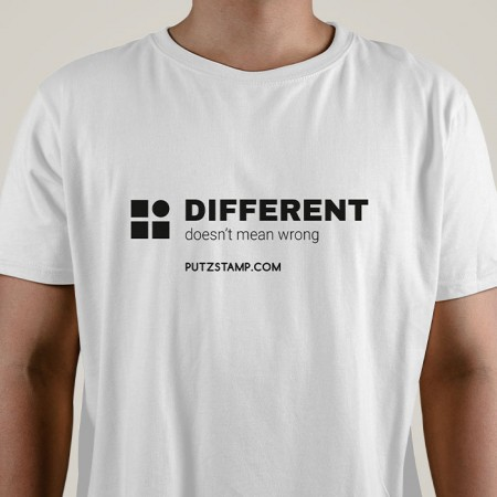 T-SHIRT homem Different doesn't Mean Wrong