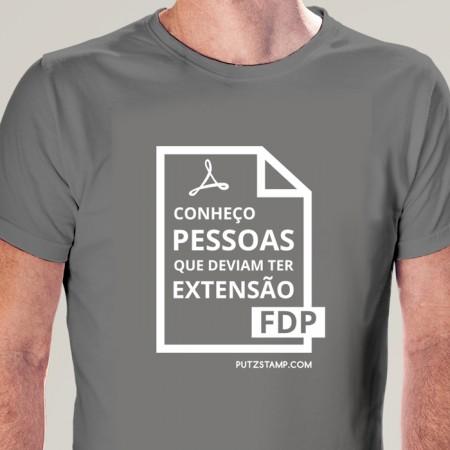 T-SHIRT homem Extensão FDP