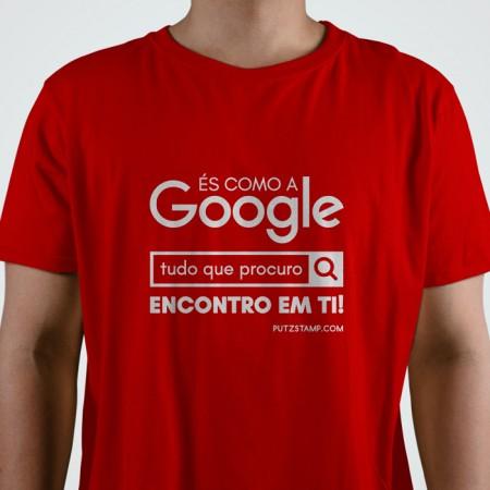 T-SHIRT homem És como a Google