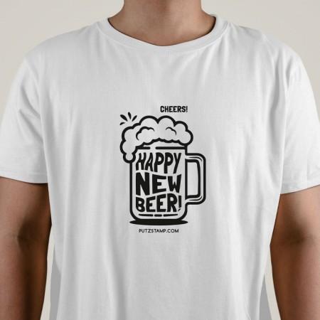 T-SHIRT homem Happy New Beer!