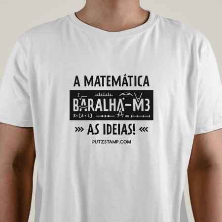 T-SHIRT homem a Matemática Baralha-me