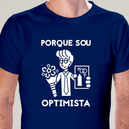 T-SHIRT homem Porque sou Optimista