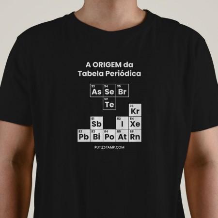 T-SHIRT homem Origem da Tabela Periódica
