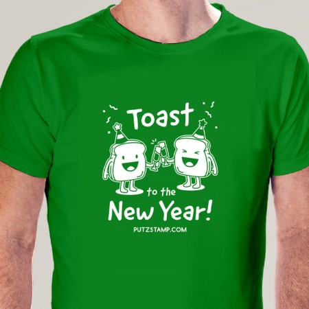 T-SHIRT homem Toast to the New Year!
