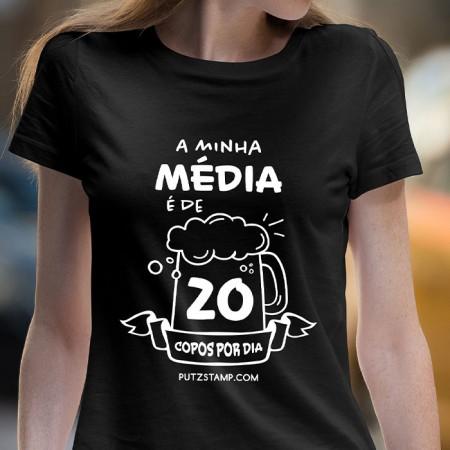 T-SHIRT senhora média de 20 copos