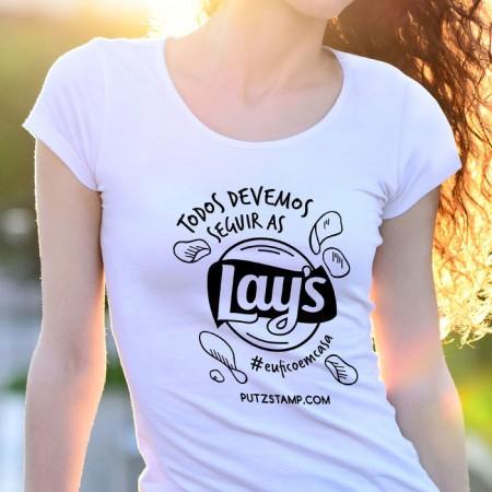 T-SHIRT senhora Seguir as Lay's