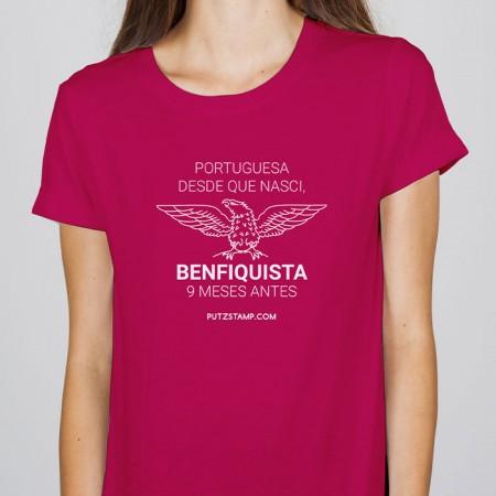T-SHIRT senhora Portuguesa Benfiquista