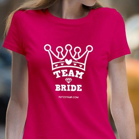 T-SHIRT senhora Team Bride